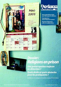Dedans Dehors n°88 - juillet 2015 Religions en prison